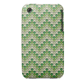 Green Polka Dots In Zig Zag Pattern iPhone 3 Case-Mate Cases