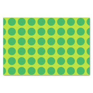 Green Polka Dots Lime Green Tissue Paper