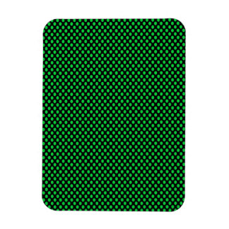 Green Polka Dots on Black Magnet