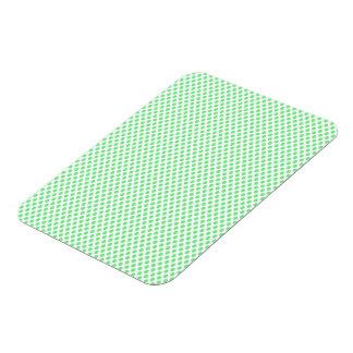 Green Polka Dots on White Rectangular Photo Magnet