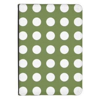 Green Polka Dots Pattern Kindle Case