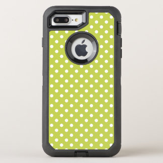 Green Polka Dots Pattern OtterBox Defender iPhone 7 Plus Case