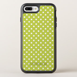 Green Polka Dots Pattern OtterBox Symmetry iPhone 8 Plus/7 Plus Case