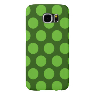 green polka dots pattern samsung galaxy s6 cases