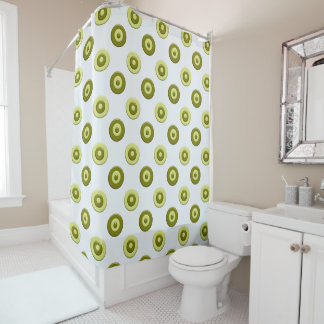 Green polka dots. shower curtain