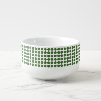 Green Polka Dots Soup Mug