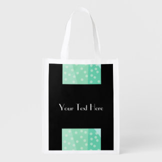 Green Polka Dots & Spots Reusable Bag