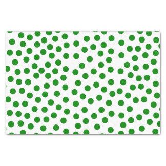 Green Polka Dots Tissue Paper