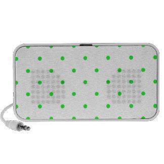 Green Polkadots Small iPod Speakers