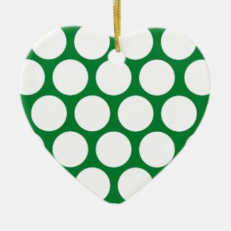 Green Polke Dot Christmas Ornament