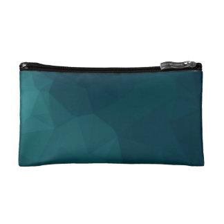 Green Polygon Art Cosmetic Bag