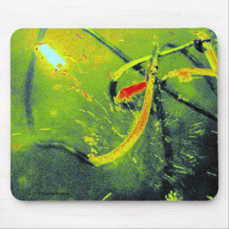 GREEN POND ABSTRACT MOUSE PAD