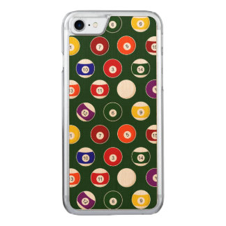 Green Pool Ball Billiards Pattern Carved iPhone 8/7 Case