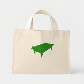 Green Pool Table Canvas Bags