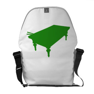 Green Pool Table Courier Bag