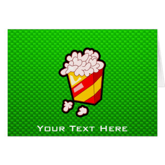 Green Popcorn Card