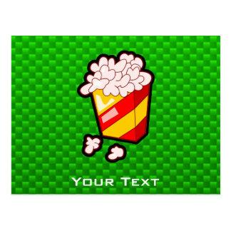 Green Popcorn Postcard