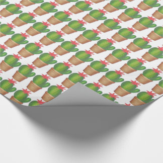 Green Potted Plant Cactus Cacti Garden Flower Wrap Wrapping Paper