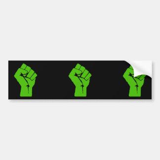 Green power bumper sticker