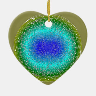 Green Power in a globe abstract Christmas Ornament