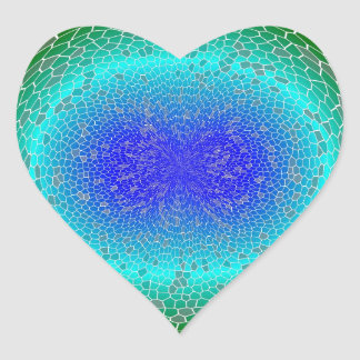 Green Power in a globe abstract Heart Stickers