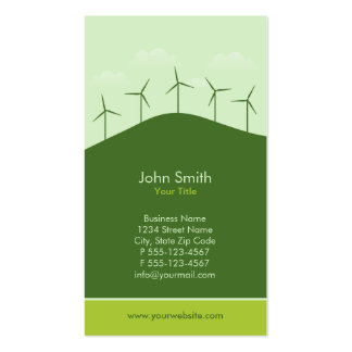 Green Power - Renewable energy companies Pack Of Standard Business Cards