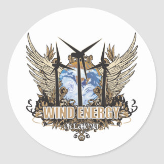 Green Pride Wind Oklahoma Classic Round Sticker