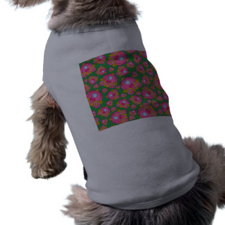 Green princess carriage pattern sleeveless dog shirt