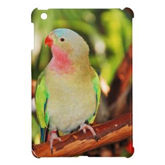 Green princess parakeet print case for the iPad mini