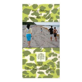 Green Print Customized Photo Card
