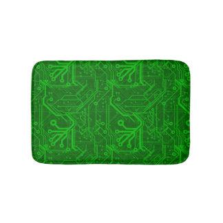 Green Printed Circuit Board Pattern Bath Mats