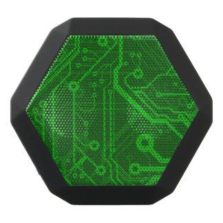 Green Printed Circuit Board Pattern Black Bluetooth Speaker