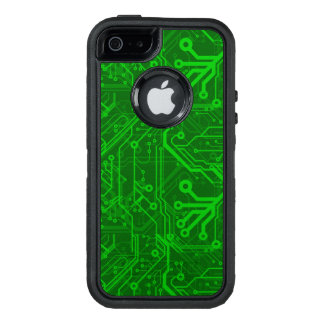 Green Printed Circuit Board Pattern OtterBox iPhone 5/5s/SE Case