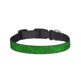 Green Printed Circuit Board Pattern Pet Collar