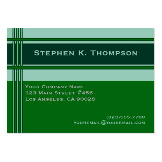 Green Professional Stripes Block Pack Of Chubby Business Cards