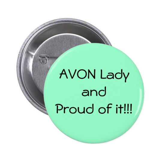 Green Proud Avon Button