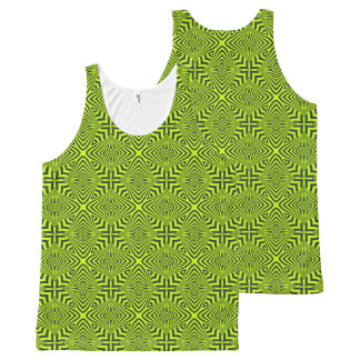 Green psychedelic All-Over print tank top