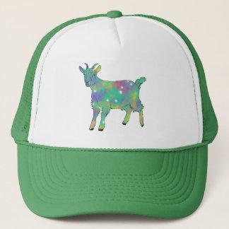 Green Psychedelic Art Goat Funny Animal Design Trucker Hat