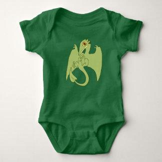 Green Pterosaur Baby Bodysuit
