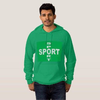 Green Pullover with hood SPORT