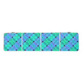 Green Purple And Black Optical Illusion Pattern Beer Pong Table