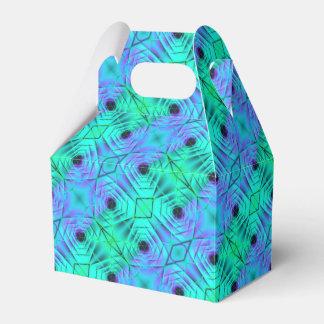 Green Purple And Black Optical Illusion Pattern Favour Box