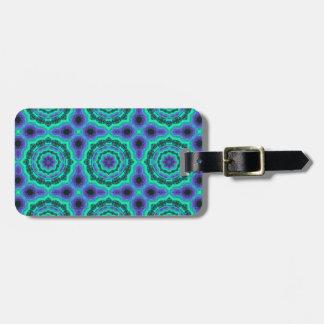 Green, Purple And Blue Mandala Pattern Luggage Tag