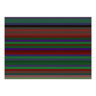 Green purple and red stripes invite