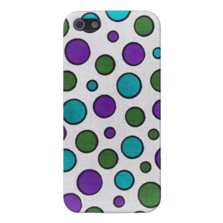green, purple and teal dots iphone 5 case