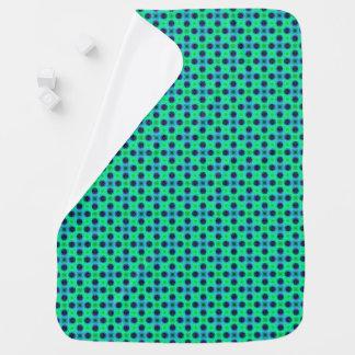 Green Purple Blue Geometric Abstract Baby Blanket