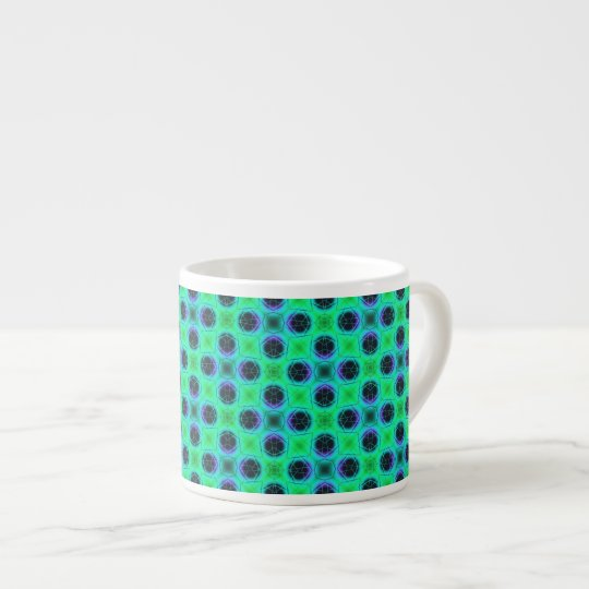 Green Purple Blue Geometric Abstract Espresso Cup