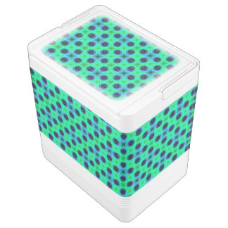 Green Purple Blue Geometric Abstract Igloo Cooler