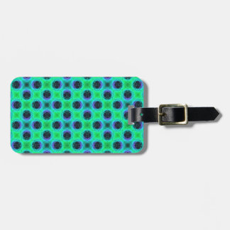 Green Purple Blue Geometric Abstract Luggage Tag