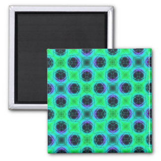 Green Purple Blue Geometric Abstract Magnet